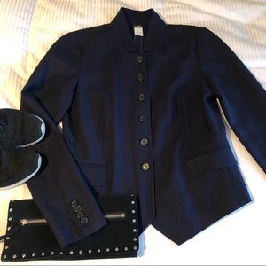 J. Crew Navy Wool Jacket Size4